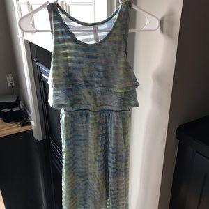 Super Cute Striped High Low Dress